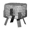 Shelter 8-in W x 8-in L Black Galvanized Steel Square Chimney Cap