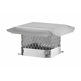 Shelter 12-in W x 16-in L Stainless Steel Rectangular Chimney Cap