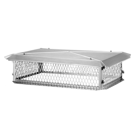 Shelter 14-in W x 21-in L Stainless Steel Rectangular Chimney Cap