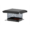 Shelter 20-in W x 20-in L Black Galvanized Steel Square Chimney Cap