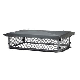 Shelter 10-in W x 14-in L Black Galvanized Steel Rectangular Chimney Cap