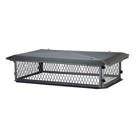 Shelter 14-in W x 30-in L Black Galvanized Steel Rectangular Chimney Cap