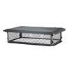 Shelter 17-in W x 35-in L Black Galvanized Steel Rectangular Chimney Cap