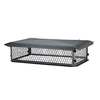 Shelter 14-in W x 26-in L Black Galvanized Steel Rectangular Chimney Cap