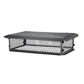 Shelter 15-in W x 37-in L Black Galvanized Steel Rectangular Chimney Cap