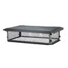 Shelter 17-in W x 41-in L Black Galvanized Steel Rectangular Chimney Cap