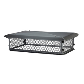 Shelter 17-in x 29-in Black-Painted Galvanized Steel Chimney Cap