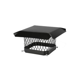 Shelter 9-in W x 9-in L Black Galvanized Steel Square Chimney Cap