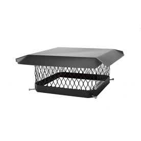 Shelter 13-in x 13-in Black-Painted Galvanized Steel Chimney Cap