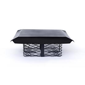 Shelter Adjustable Black-Painted Galvanized Steel Chimney Cap