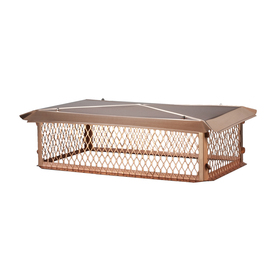 Shelter 15-in W x 37-in L Copper Rectangular Chimney Cap