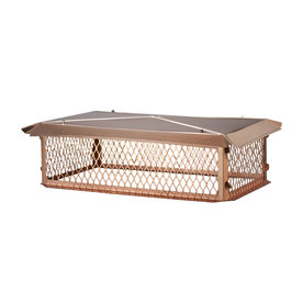 Shelter 17-in x 35-in Copper Chimney Cap