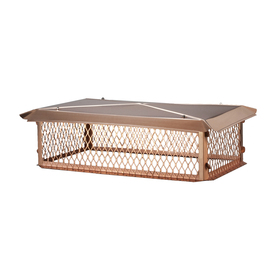 Shelter 17-in W x 29-in L Copper Rectangular Chimney Cap