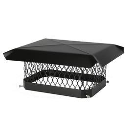 Shelter 10-in W x 17-in L Black Galvanized Steel Rectangular Chimney Cap