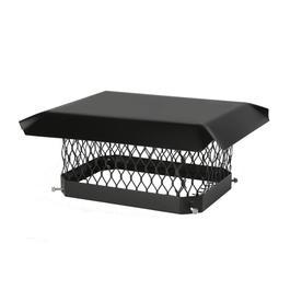 Shelter 13-in W x 17-in L Black Galvanized Steel Rectangular Chimney Cap