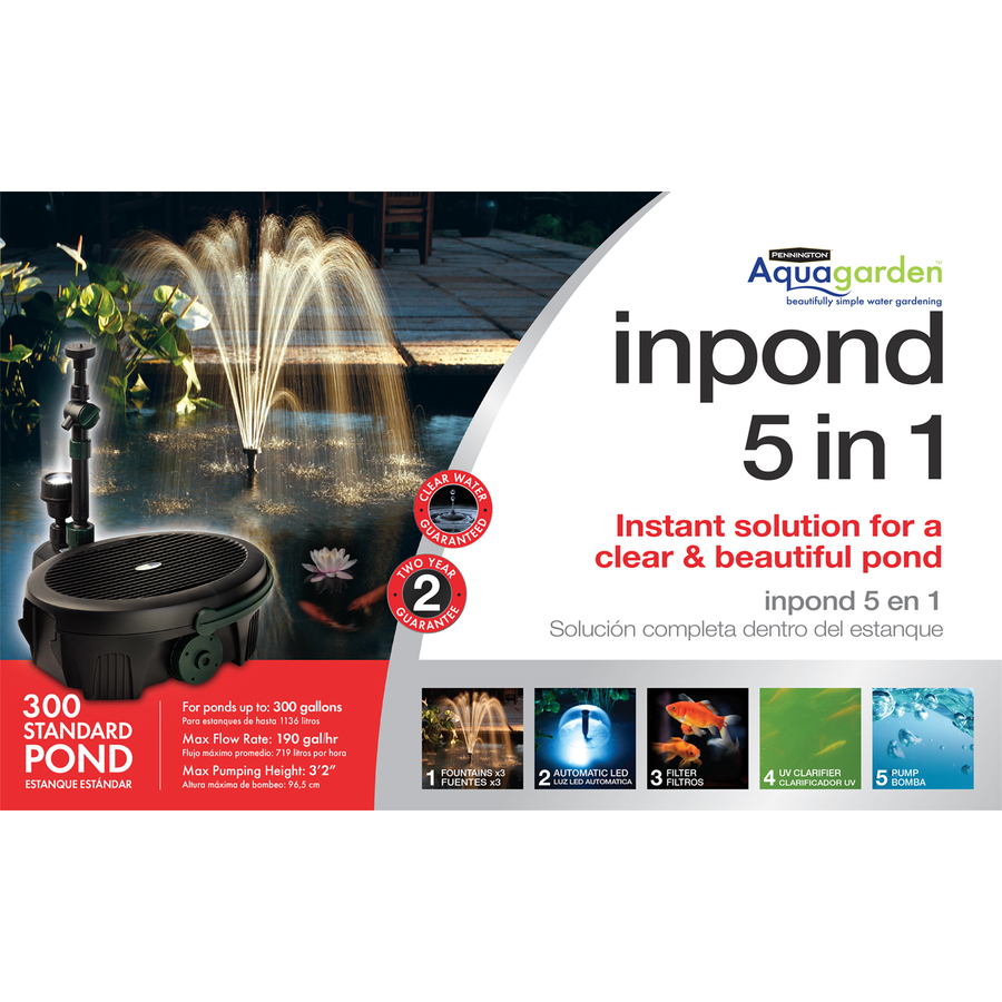 Shop Pennington Pond And Waterfall Kit At: lowes pond filter