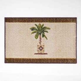 Avanti Banana Palm 20-in x 30-in Linen Nylon Bath Rug