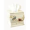 Avanti Gilded Birds Ivory Ceramic Tissue Holder