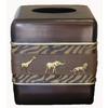 Avanti Animal Parade Brown Resin Tissue Holder