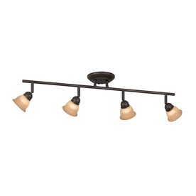Portfolio 4-Light Aged Bronze Fixed Track Light Kit