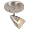 Portfolio Aria 5-in Brushed Steel Dimmable Flush Mount Fixed Track Light Kit