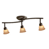 Portfolio 3-Light Standard Old Bronze Glass Pendant Linear Track Lighting Kit