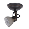 allen + roth Tucana 1-Light Oil-Rubbed Bronze Dimmable Flush Mount Fixed Track Light Kit