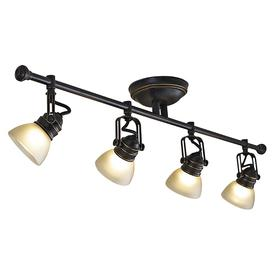 allen + roth Tucana 4-Light Bronze Fixed Track Bar Light Kit