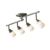 allen + roth 4-Light Brushed Pewter Fixed Track Light Kit
