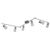 Portfolio 6-Light Brushed Nickel Fixed Track Light Kit