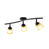 allen + roth 3-Light Aged Rust Fixed Track Light Kit