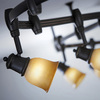 Portfolio 6-Light 96-in Bronze Flexible Track Light with Tea Stained Glass
