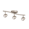 Portfolio 3-Light 24-in Brushed Nickel Fixed Track Light Kit