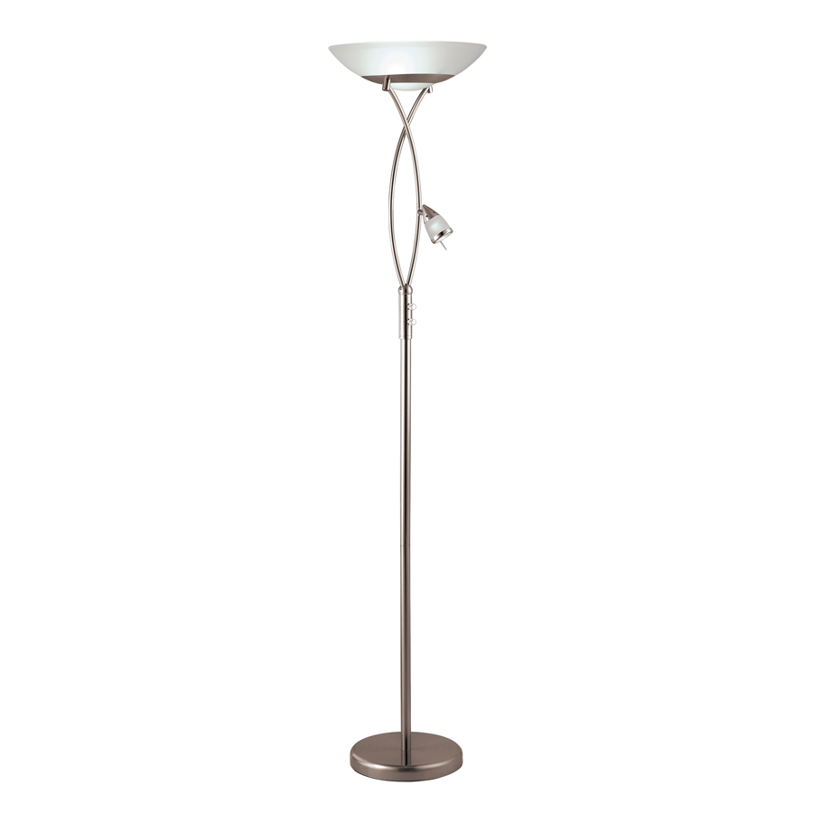 torchiere with side light indoor floor lamp with glass shade at lowes. Black Bedroom Furniture Sets. Home Design Ideas
