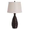 Catalina 27-in 3-Way Brown Indoor Table Lamp with Fabric Shade