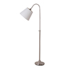 Catalina 62-in Brushed Nickel Floor Lamp with White Shade