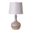 Catalina 24.25-in 3-Way White Indoor Table Lamp with Fabric Shade
