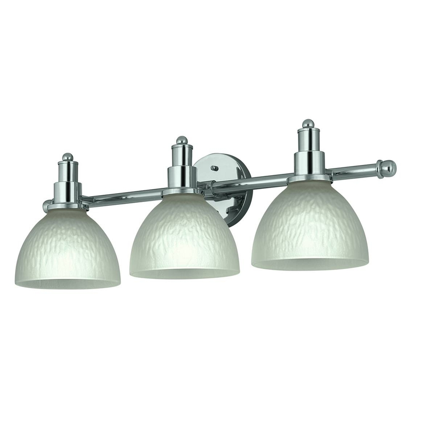 Shop Portfolio 3-Light Chrome Bathroom Vanity Light at Lowes.com