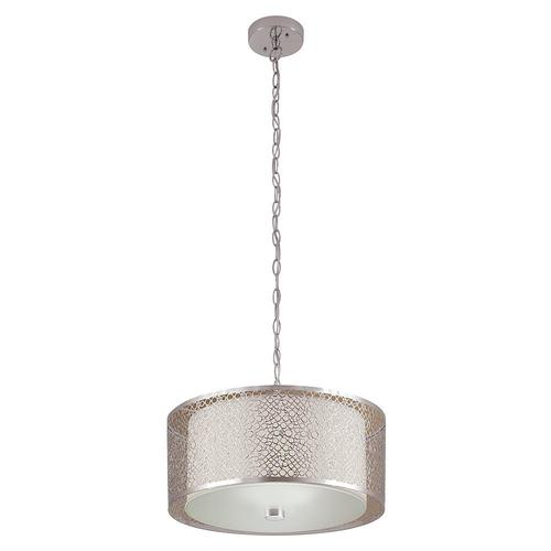 "Zoomed: Portfolio 17""W Chrome Pendant Light with Chrome Shade"