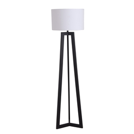 Shop Catalina 58-in Black Indoor Floor Lamp with Fabric Shade at