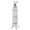 allen + roth 68.75-in 3-Way Switch Bronze Furniture Lamp with Glass Shade