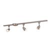 Portfolio Aria 3-Light Brushed Steel Roundback Linear Track Lighting Kit