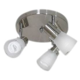Portfolio 3-Light 10-in Brushed Steel Flush Mount Fixed Track Light Kit
