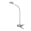 Style Selections 15-in Adjustable Brushed Steel LED Clip-On Desk Lamp with Metal Shade