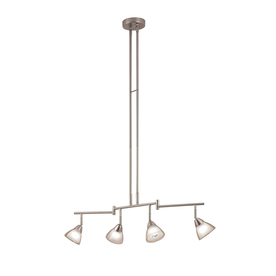 Portfolio 4-Light Brushed Nickel Fixed Track Light Kit