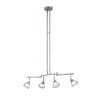 Portfolio 4-Light 35.63-in Brushed Nickel Fixed Track Light Kit