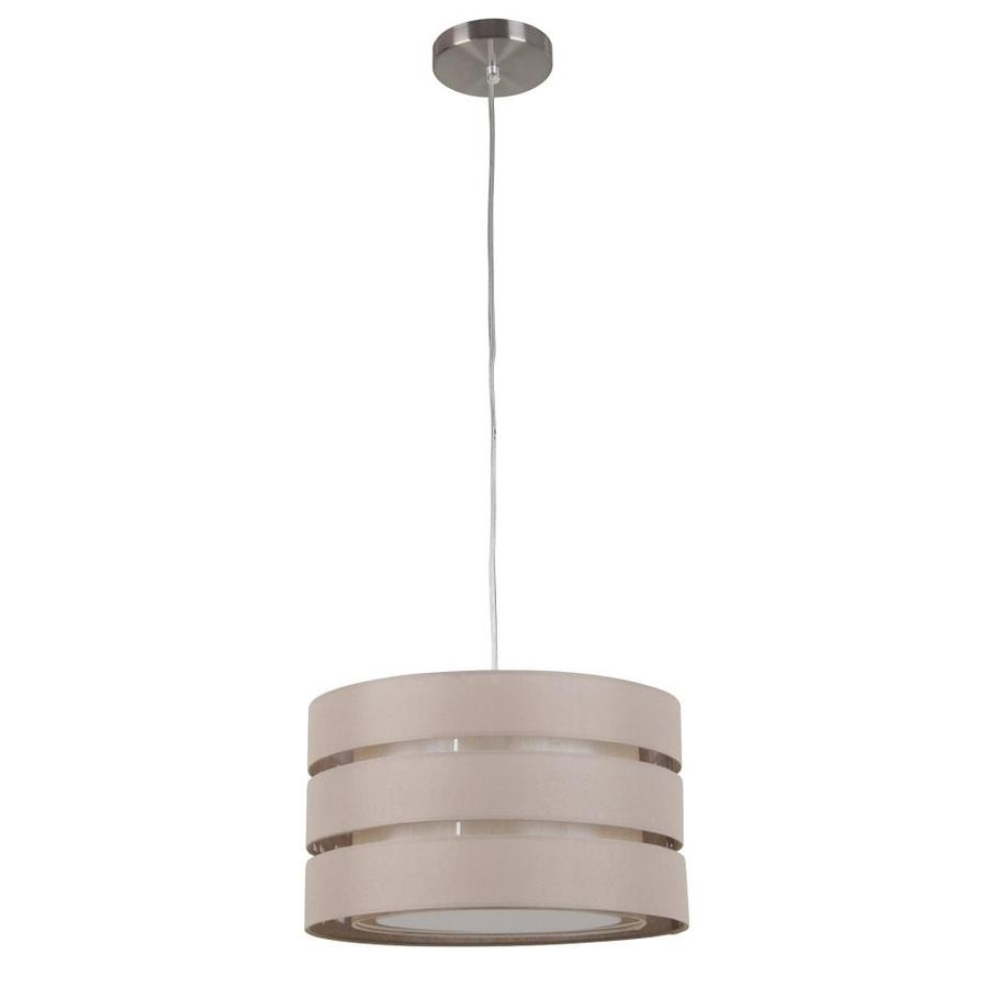linen hardwired standard pendant light with fabric shade at. Black Bedroom Furniture Sets. Home Design Ideas