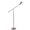 allen + roth 51-in Brushed Nickel Floor Lamp with Brushed Nickel Shade