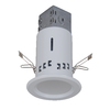 Utilitech 3-in White LED Stepped Baffle Recessed Lighting Kit