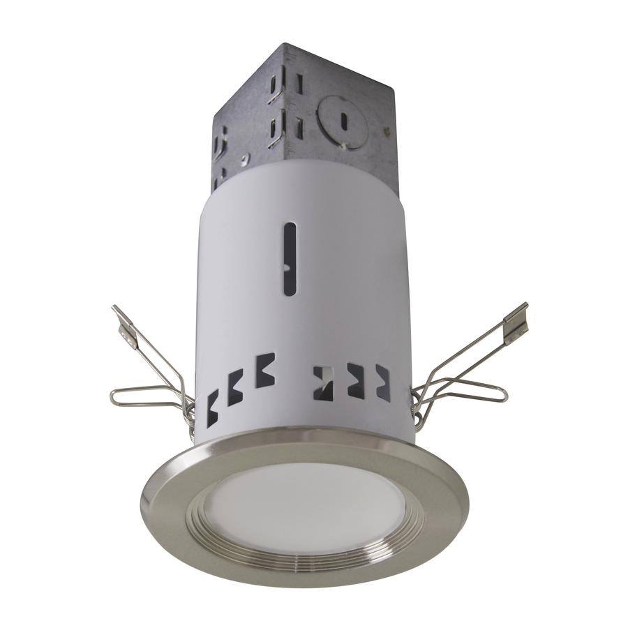 Recessed Lighting Kits For Remodel : Utilitech pro brushed nickel led remodel recessed